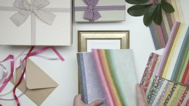 Wrapping photo frame as gift. Choose decor. 08. Part 02.