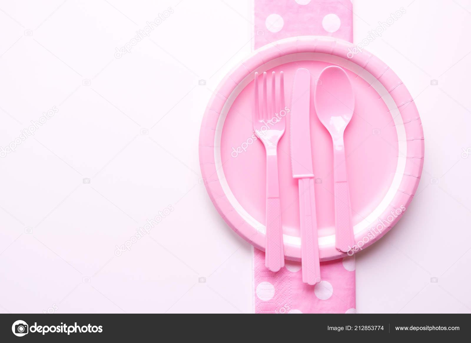 Plato para ni/ños rosa rosa