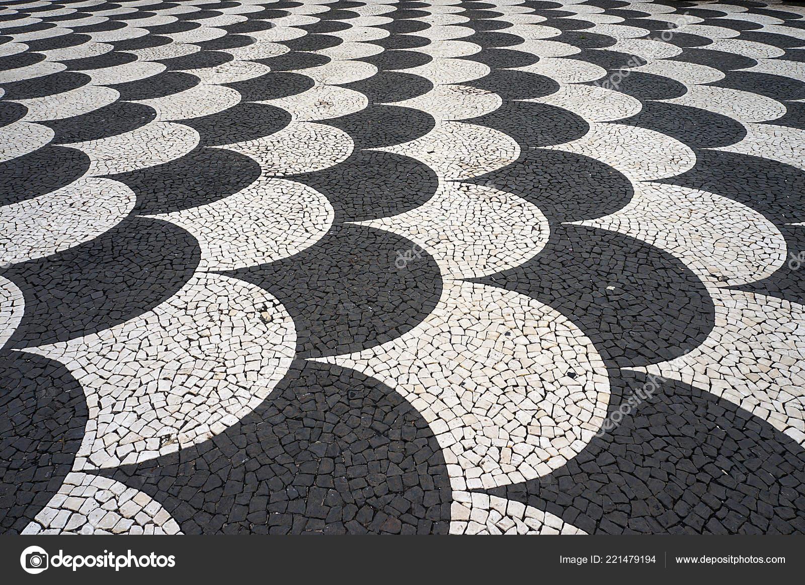 Tegels Met Patroon : Mozaïek tegels bestrating patroon straten pleinen funchal madeira