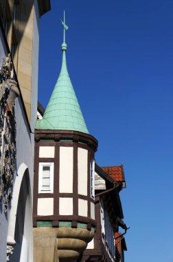 """Картина, постер, плакат, фотообои """"фрагмент средневекового здания в целле, германия . картины"""", артикул 310165274"""