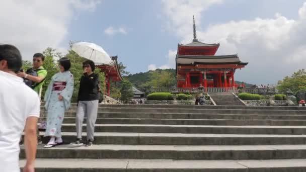 Kyomizu-dera, Kyoto, tourist walking around