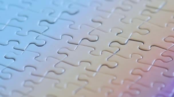 Puzzle kousky k sobě pasují, kompletní