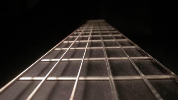 Akustická kytara Detail, Fretboard Closeup