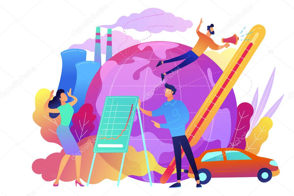 Global warming concept vector illustration.
