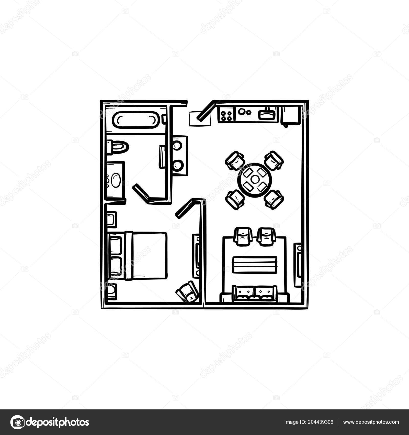 Hand drawn floor plans | Floor plan with furniture hand ... on construction icons, workshop icons, drafting icons, design icons, land icons, fireplace icons, farm icons, architecture icons, drawing icons, head icons, study icons, foundation icons, room icons, builder icons, remodeling icons, human icons, london icons, housing icons, household icons, architectural icons,