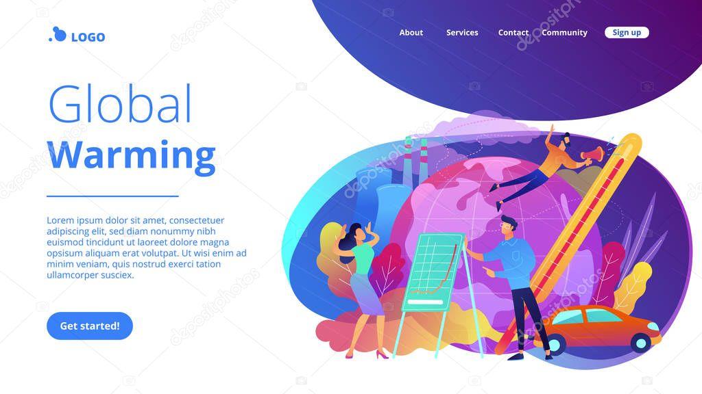 Global warming landing page.