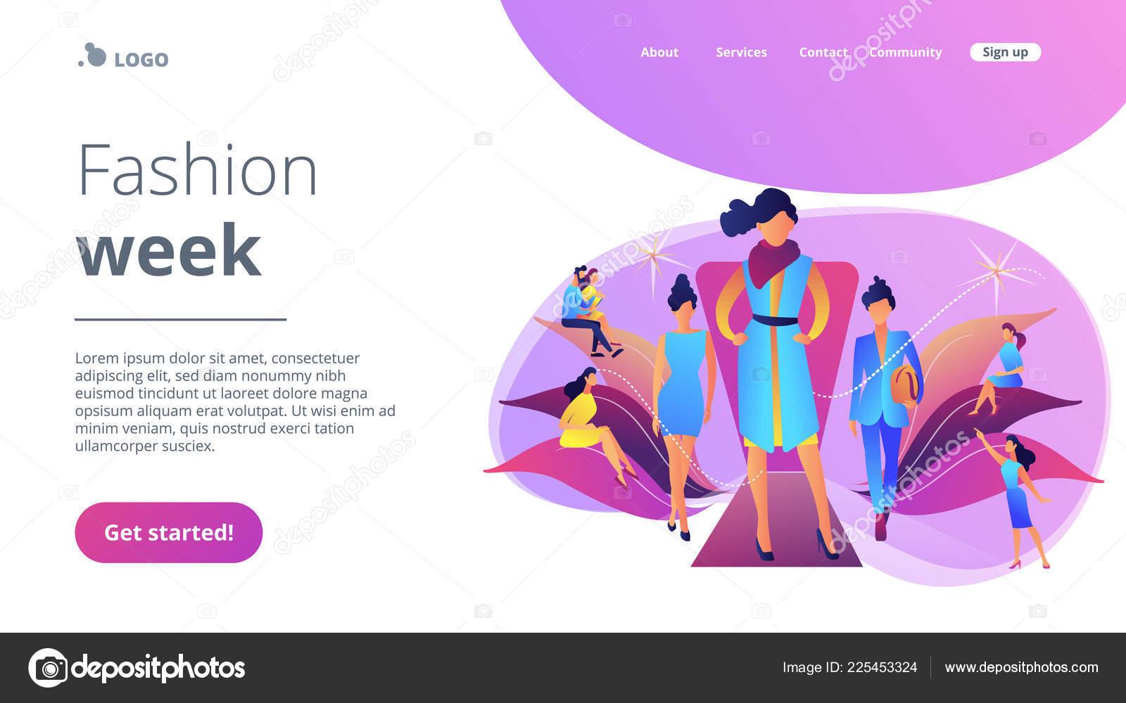 a6cff97cc Página inicial do conceito semana de moda — Vetores de Stock ...