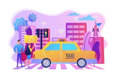 Intelligent transportation system concept vector illustration.