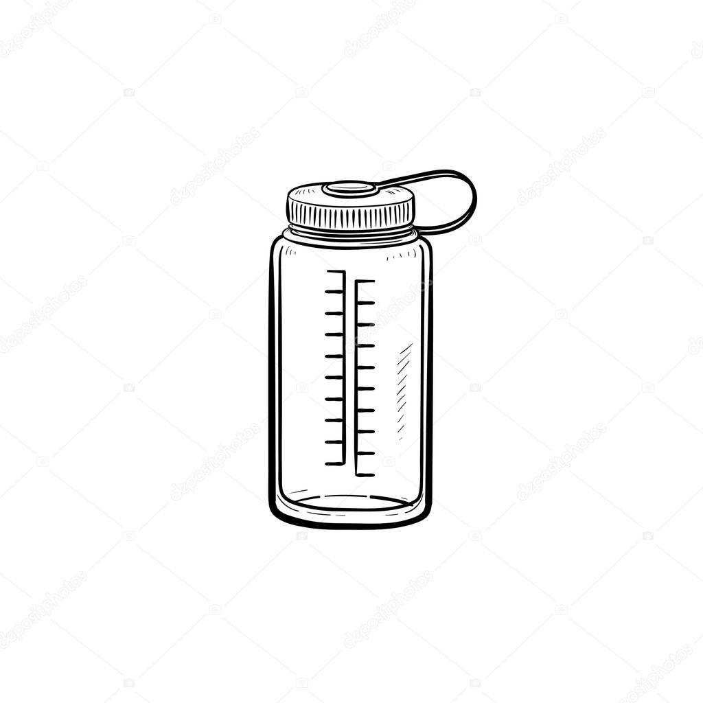 sports bottle drawing - HD1000×1080