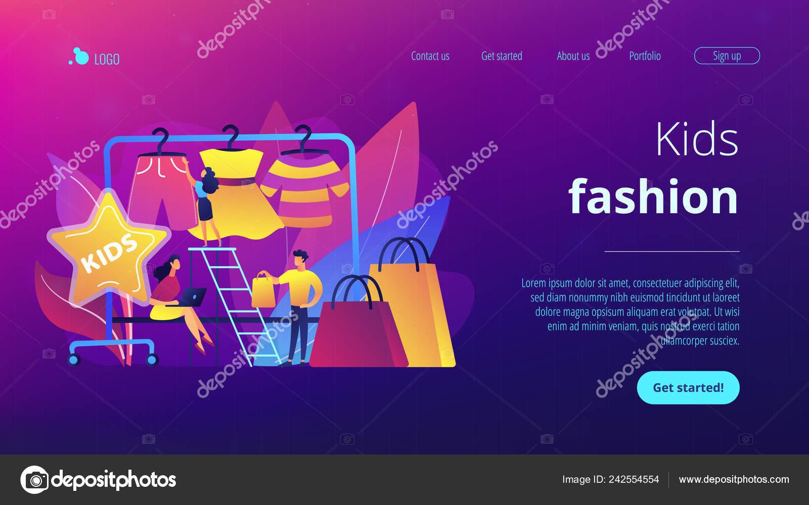 0af340d45 Página inicial de crianças moda conceito — Vetor de Stock © rastudio ...