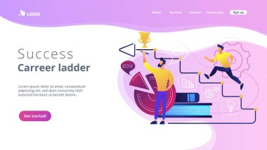 Business coaching concept landing page.
