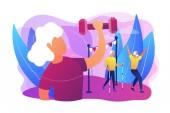 ältere Fitness Konzept Vektor Illustration