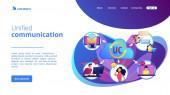 Einheitliches Kommunikationskonzept Landing Page
