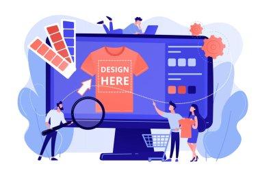 Merch clothing concept vector illustration