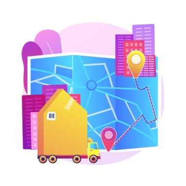 Interurban migration abstract concept vector illustration. Movement of people, census metropolitan area, buying ticket, traveling by plane train car, people with bags suitcases abstract metaphor.