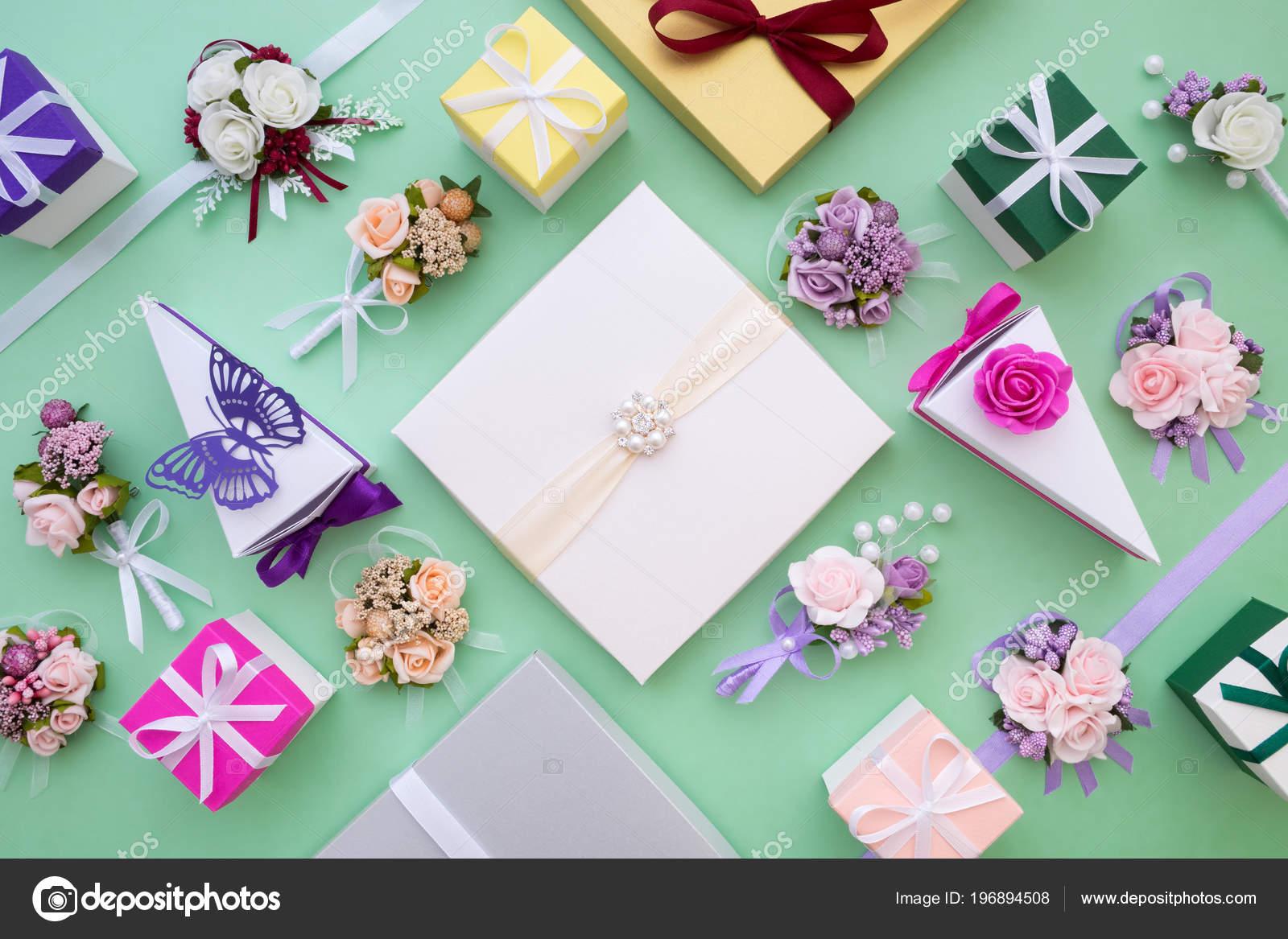 Hochzeit Set Papier Schachteln Blumen Geschenke Dekorationen