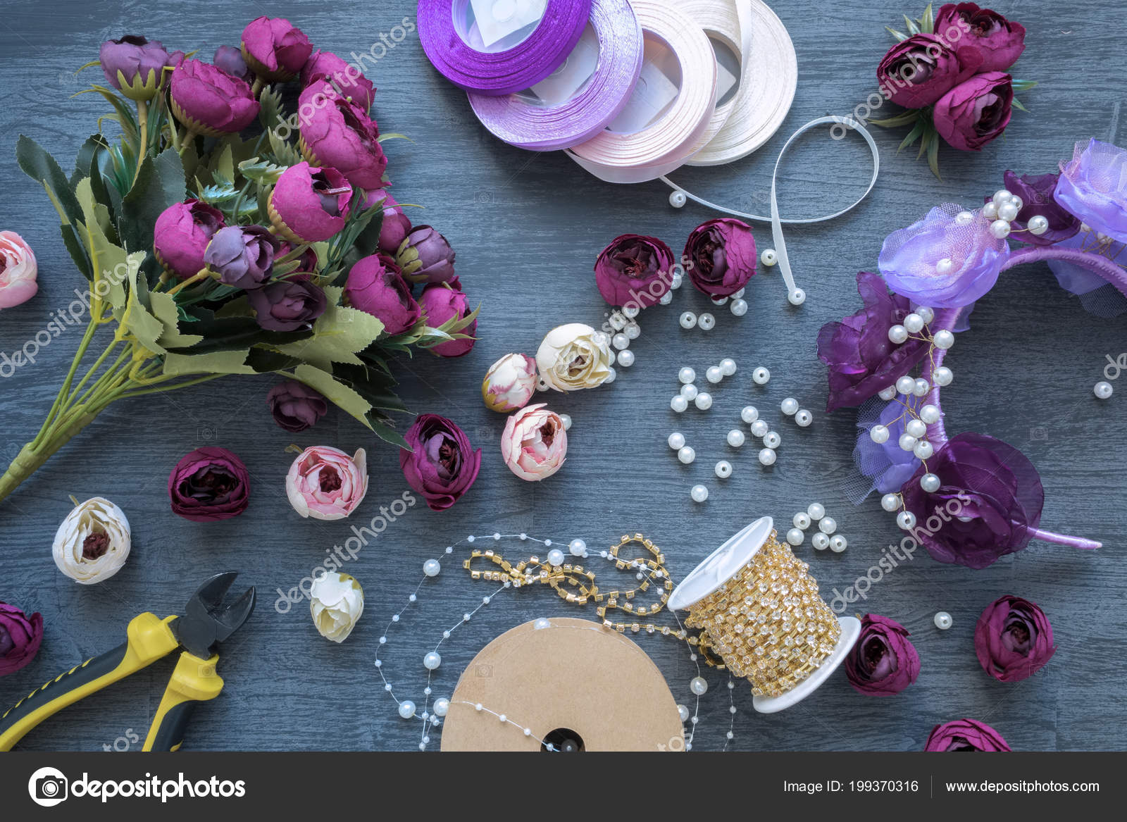Making Artificial Flowers Wreath Wedding Decorating Tools