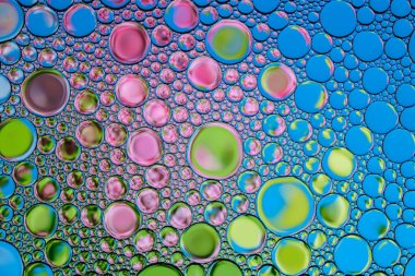 Beautiful background of colored  bubbles. Natural backdrop.