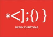 Fotografie Santa Claus smiley, typographic Christmas card, vector graphic design