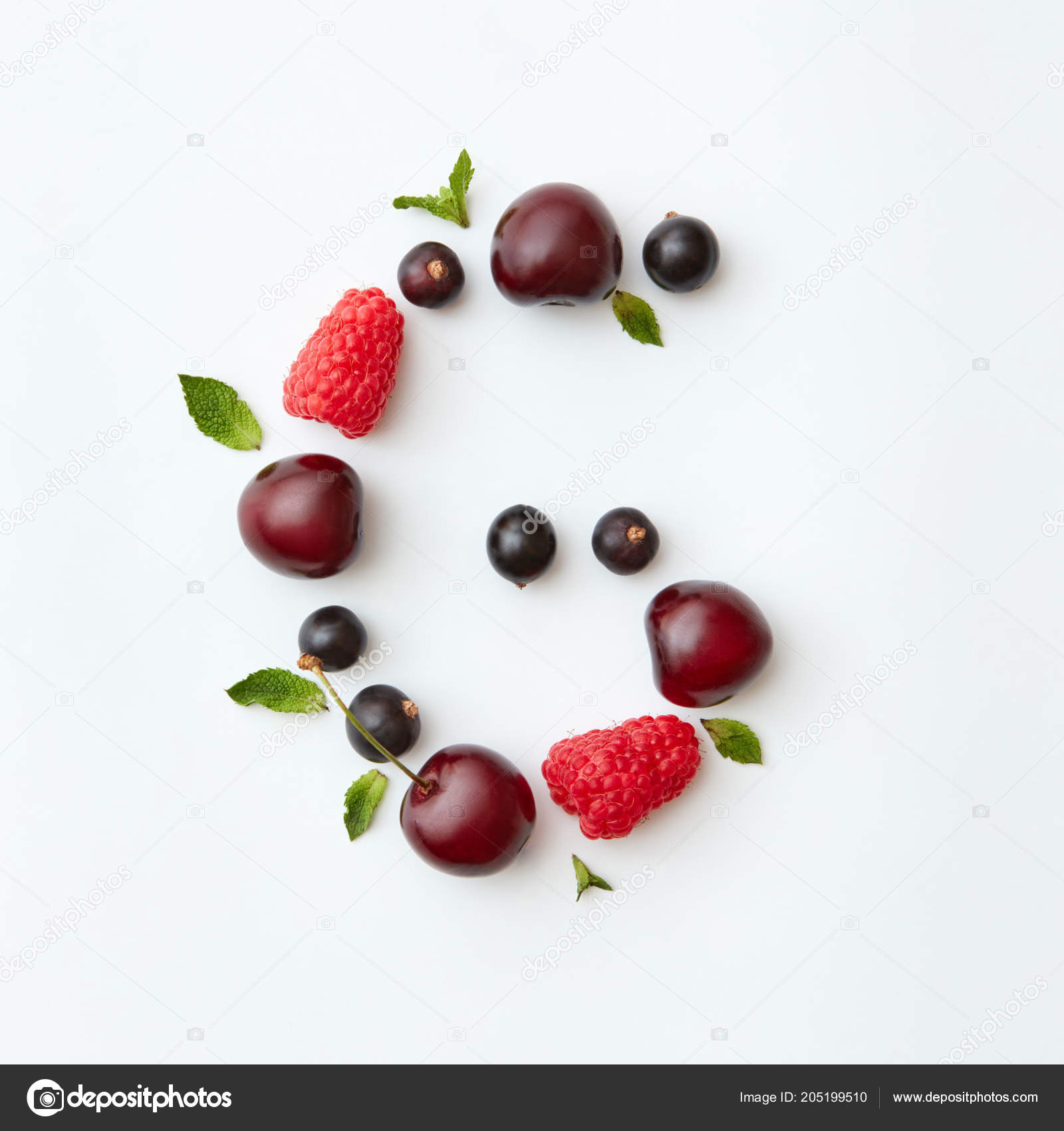 Letter English Alphabet Made Natural Organic Berries Ripe