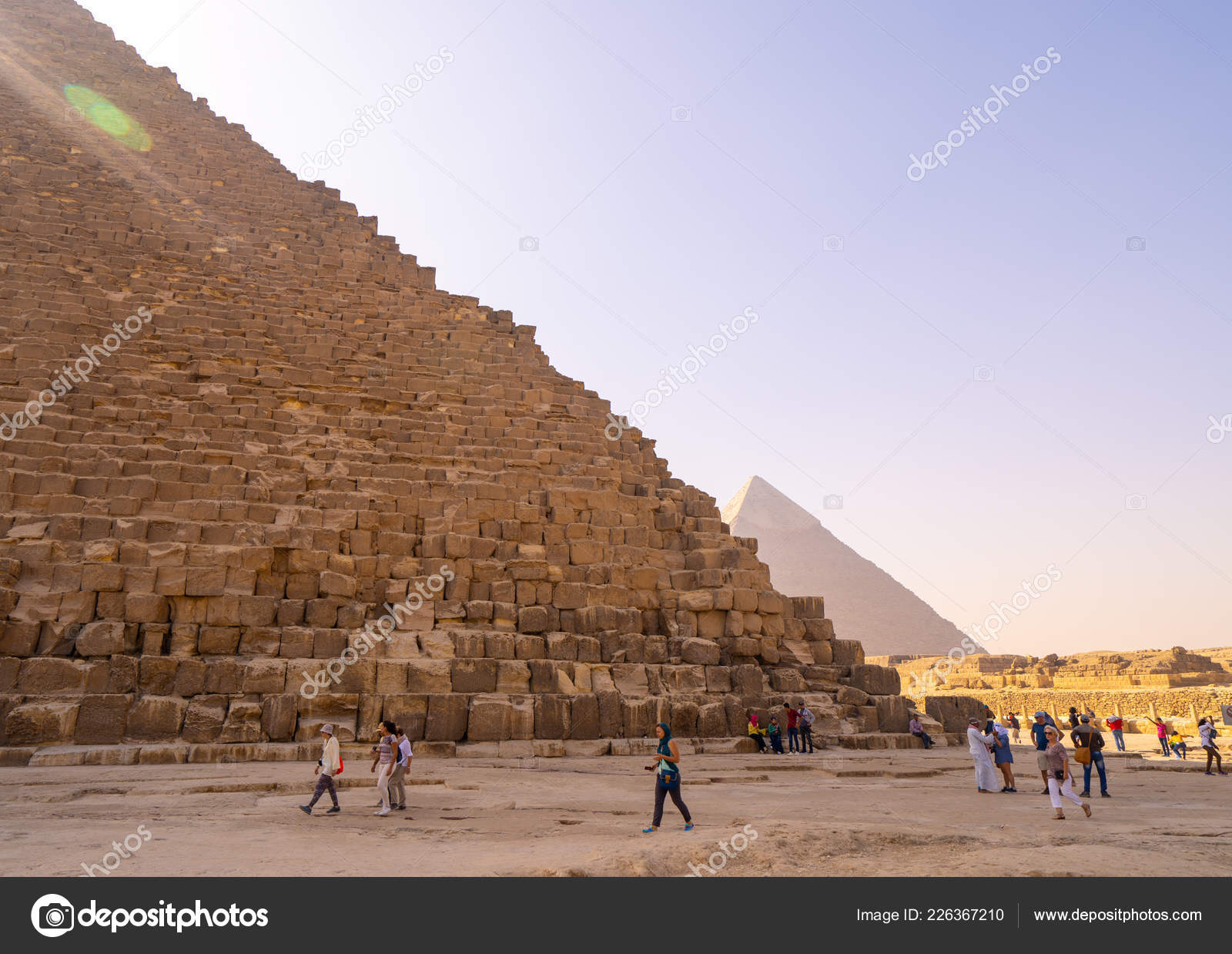 People Taking Photos Selfies Pyramids Giza Cairo Captured Egypt