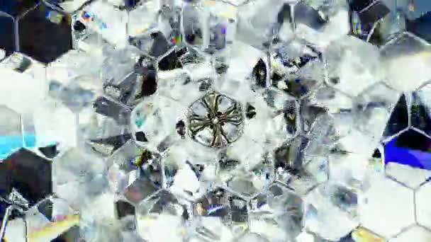 funkelnde Makro-Edelstein-Nahtlos-Schleife. Kaleidoskop