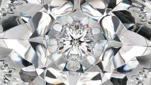 Diamond shine makro otáčení bezešvé smyčka s efektem kaleidoskop