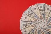 Mandala kaleidoszkóp a pénzt. Absztrakt pénzt háttér raszteres minta ismételt mandala kör.
