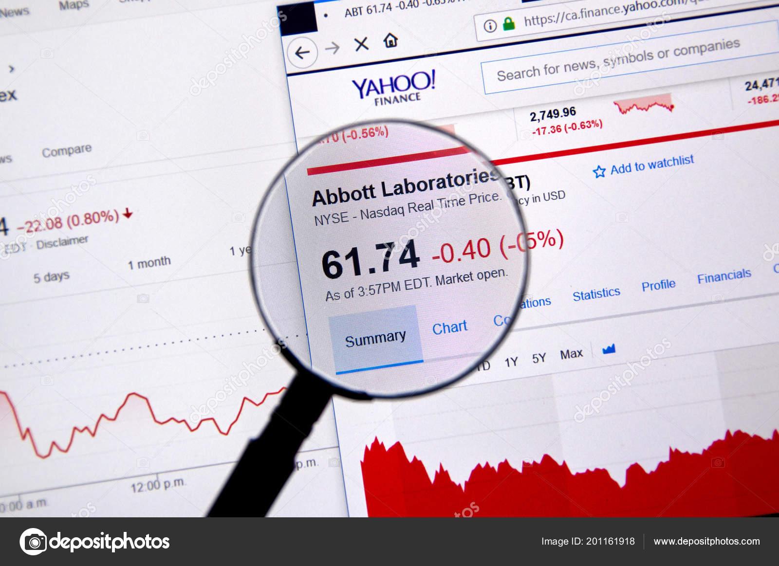 Montreal Canada June 2018 Abbott Laboratories Ticker Abt