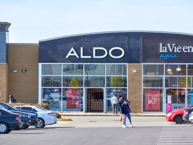 MONTREAL, CANADA - August 28, 2018: Aldo boutique in Montreal. The Aldo Group is a Canadian retailer that owns and operates a worldwide chain of shoe and accessories stores.