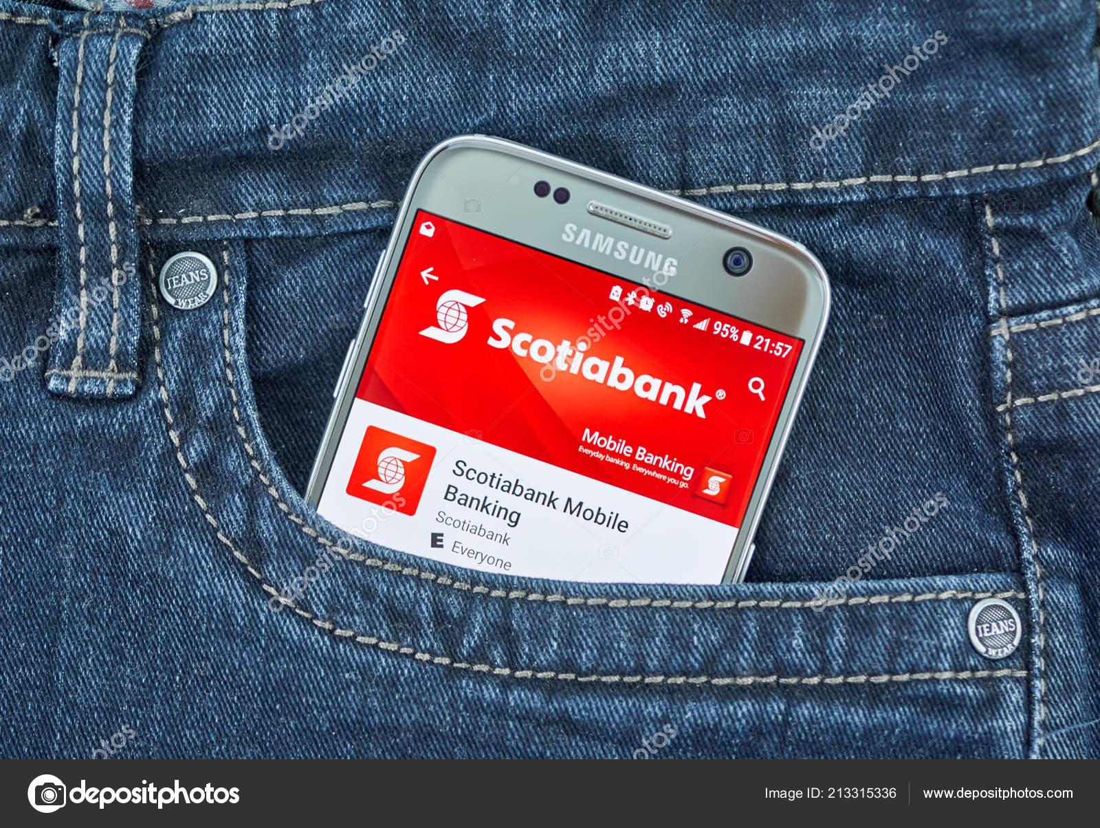 Montreal Canada September 2018 Scotiabank Mobile App Bank