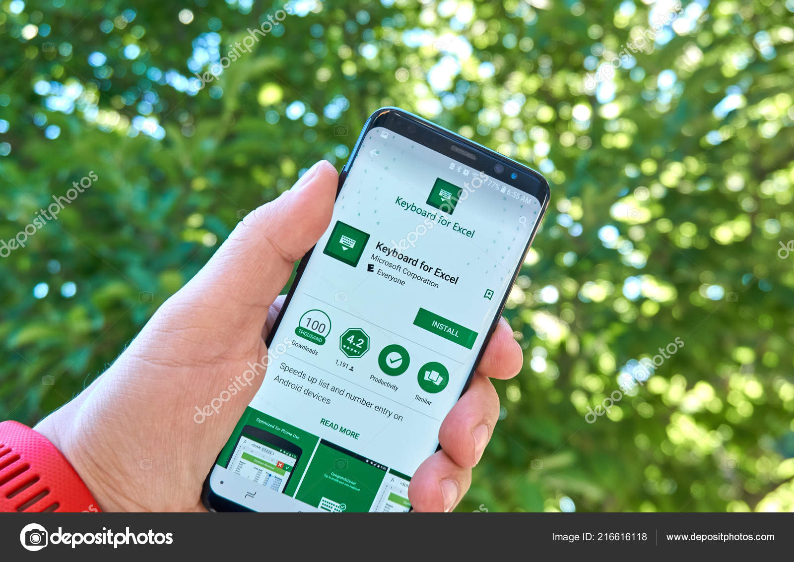 Montreal Canada August 2018 Microsoft Keyboard Excel Android