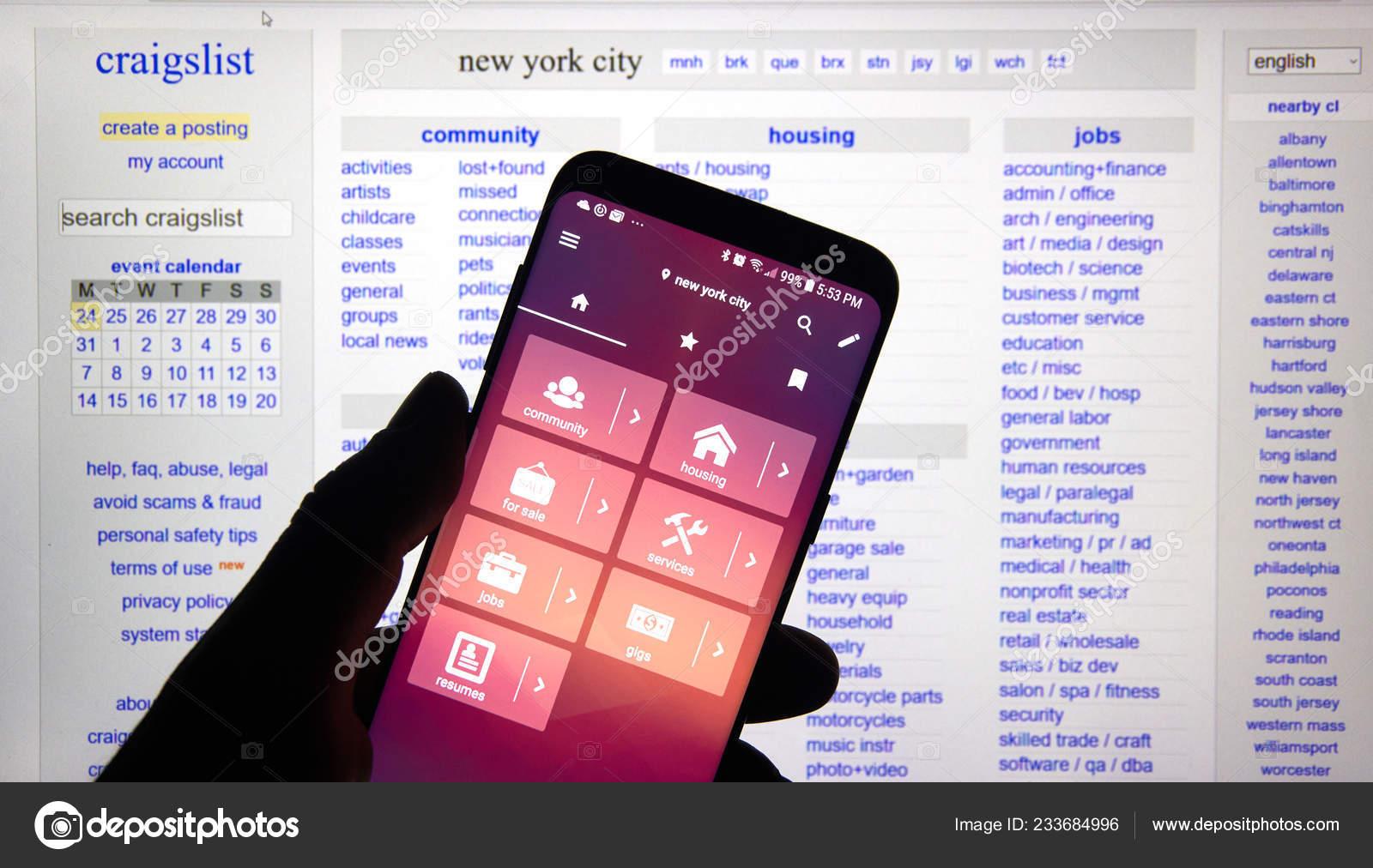 Montreal Canada December 2018 Craigslist Hmobile App Craigslist