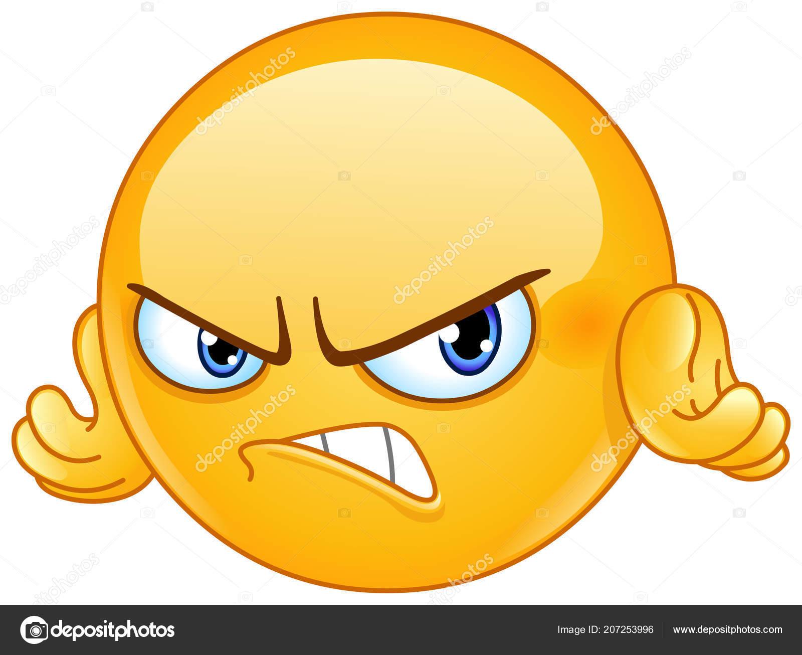Vecteurs Pour Emoticone Colere Illustrations Libres De Droits Pour Emoticone Colere Depositphotos