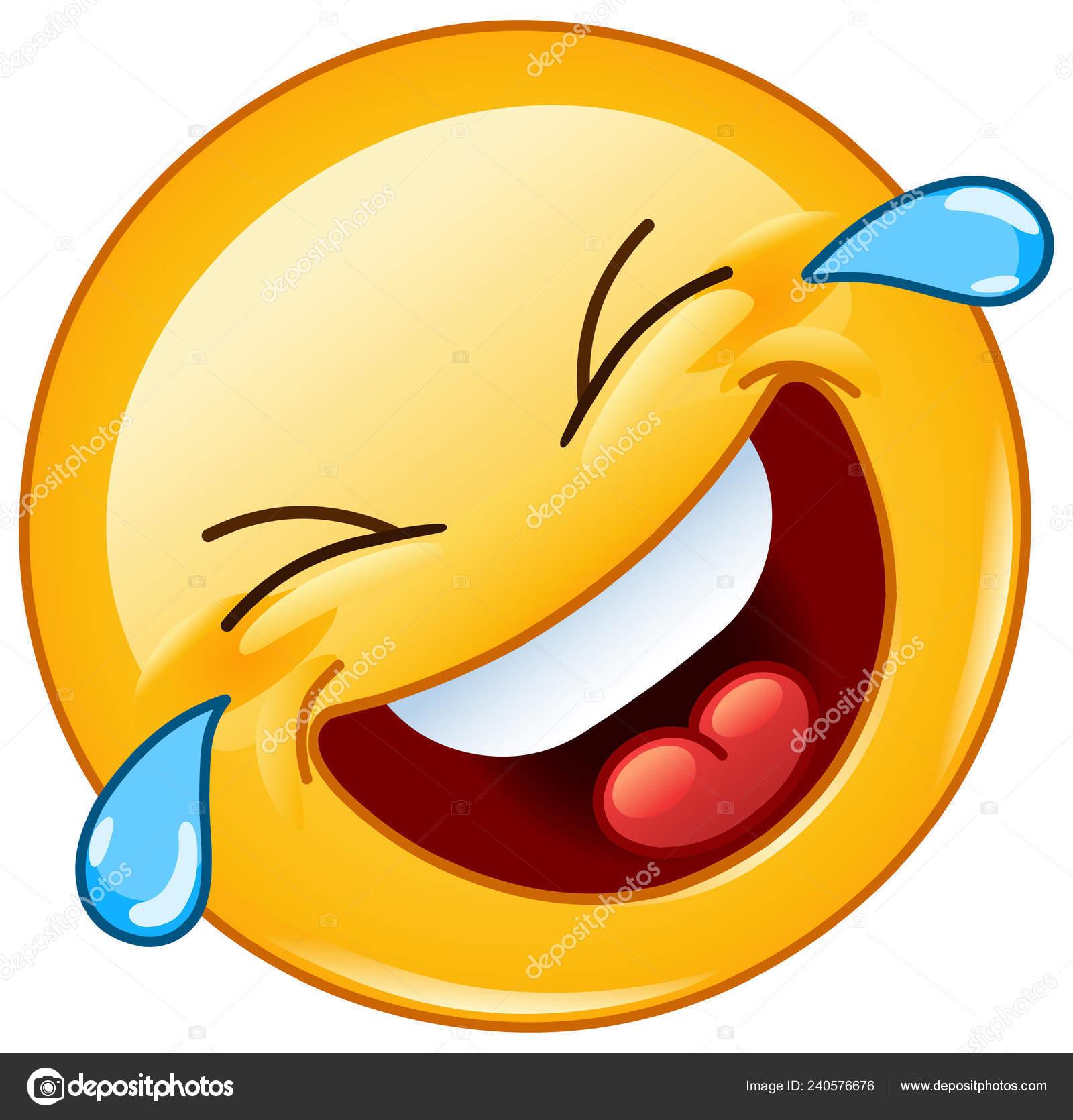 Emoticon Rotolamento Sul Pavimento Ridendo Con Lacrime