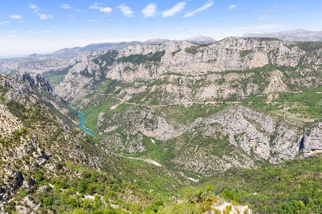 View of the Gorges du Verdon, France