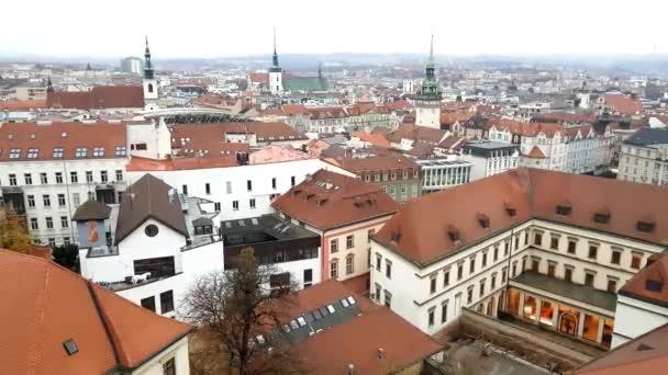 Letecký pohled na Brno, Česká republika