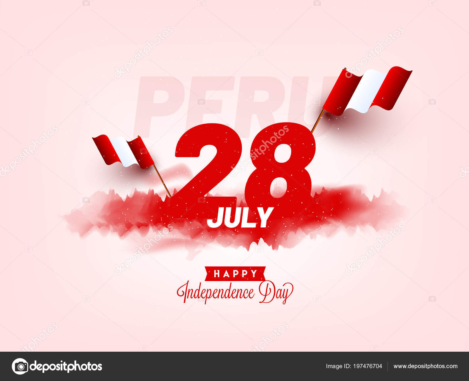 Independence Day Peru Celebration Background Stock Vector C Alliesinteract 197476704