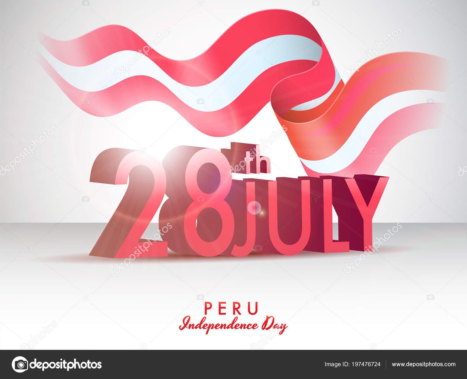 Independence Day Peru Celebration Background Stock Vector C Alliesinteract 197476724