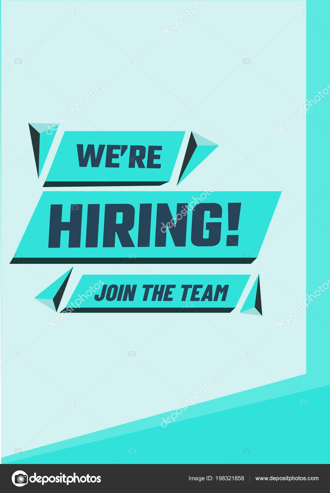 hiring poster banner design job vacancy advertisement