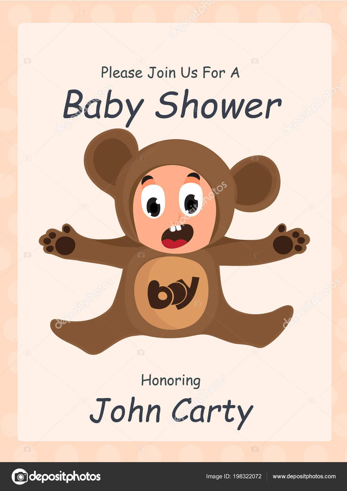 Vector Diseños Baby Shower Hermoso Diseño Tarjeta