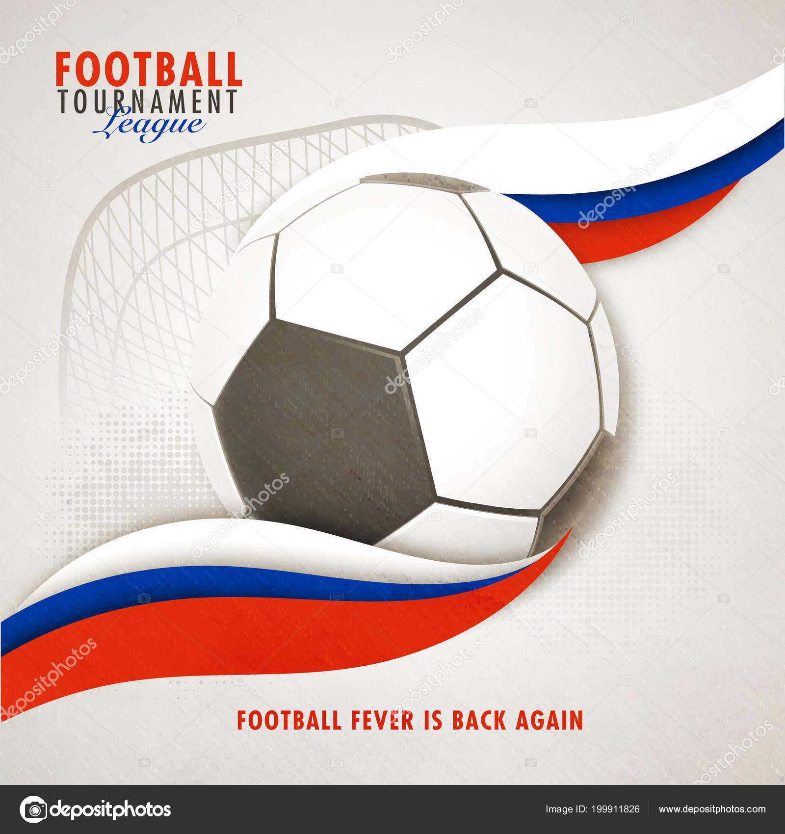 Football Tournament League Banner Poster Design Russian Flag Colors Waves Stock Vector C Alliesinteract 199911826