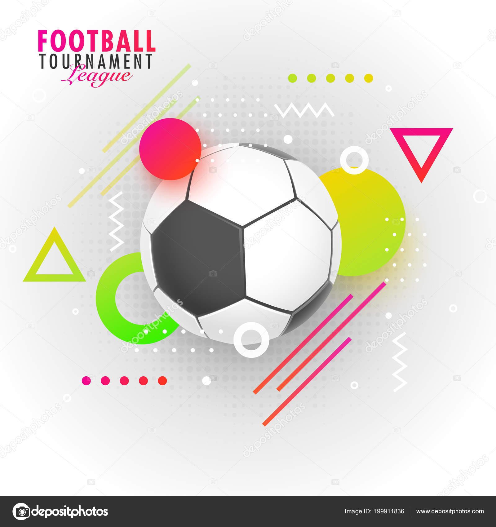 Football Tournament League Text Football Abstract Background Banner Poster Design Stock Vector C Alliesinteract 199911836