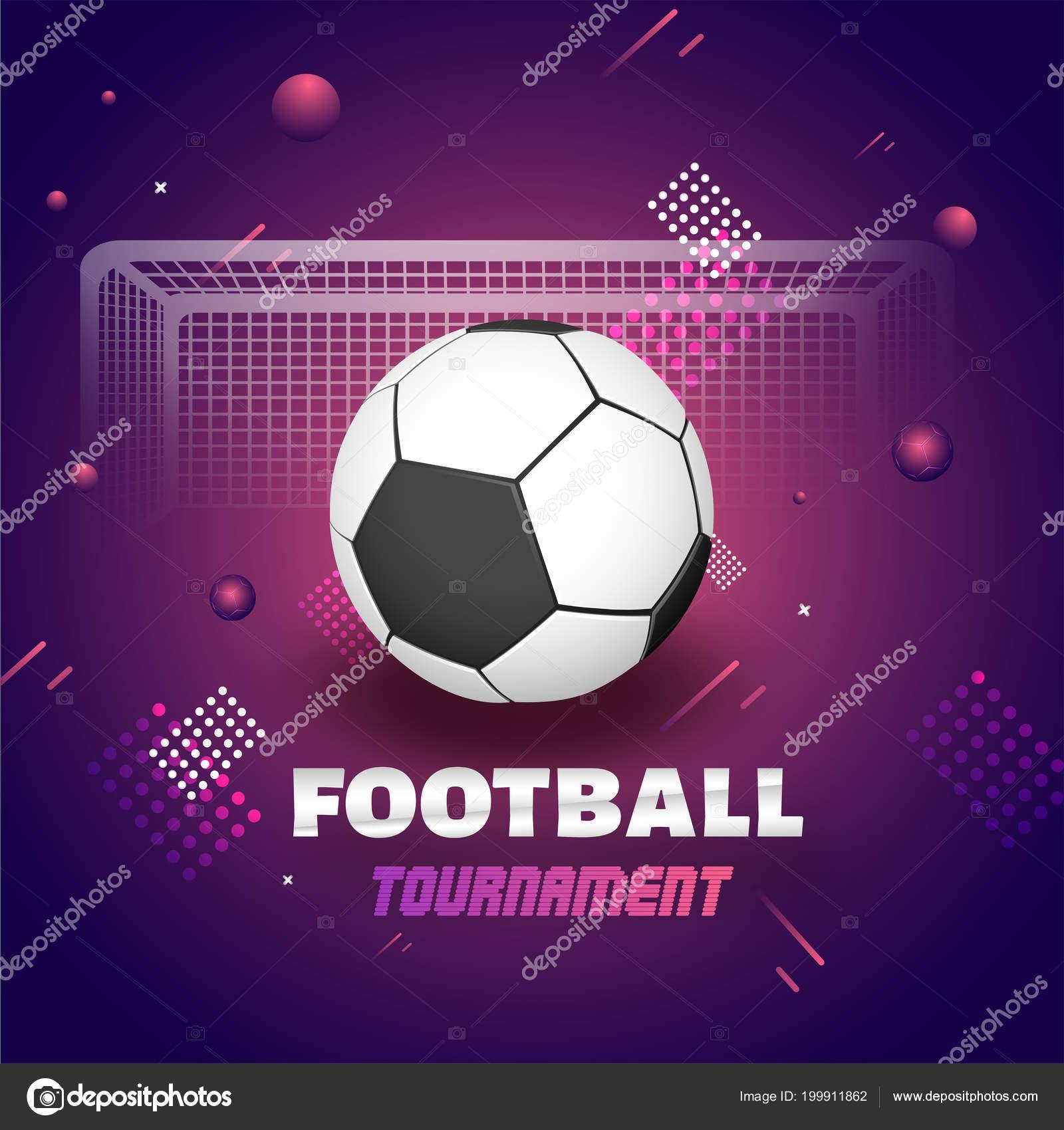 Football Tournament Banner Poster Design Football Goalpost Abstract Background Stock Vector C Alliesinteract 199911862