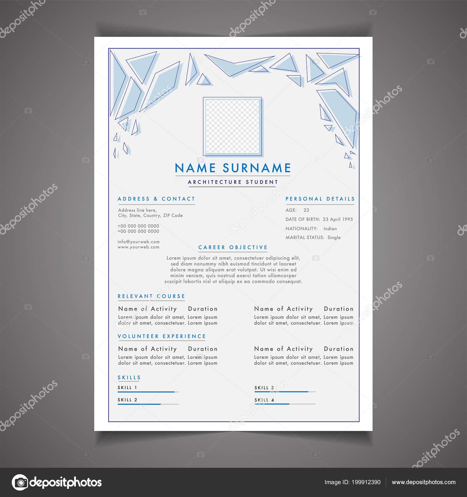 Scholarships Resume Template Design Letterhead Cover Letter ...