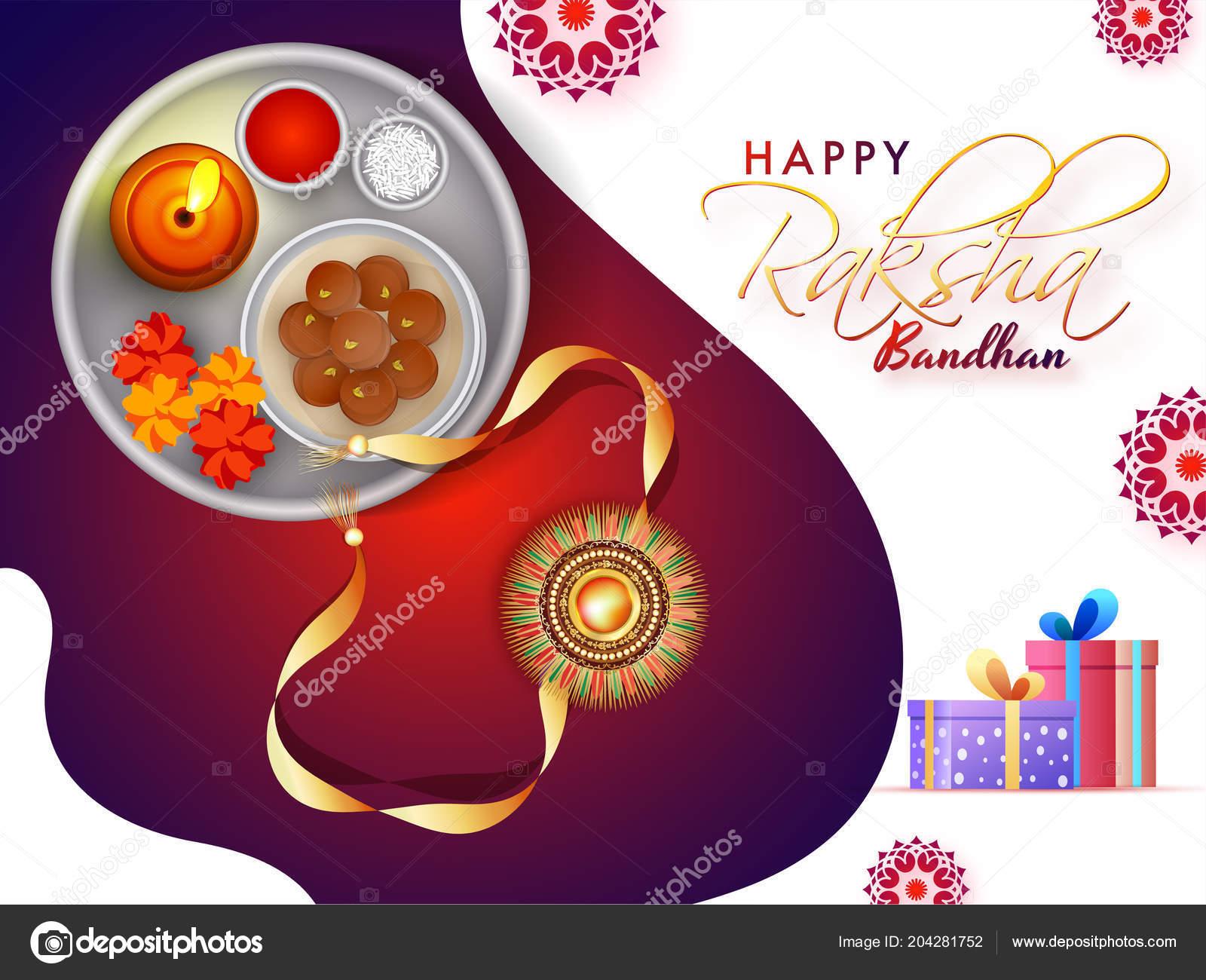 Happy raksha bandhan greeting card design illustration rakhi worship happy raksha bandhan greeting card design illustration rakhi worship plate stock vector m4hsunfo