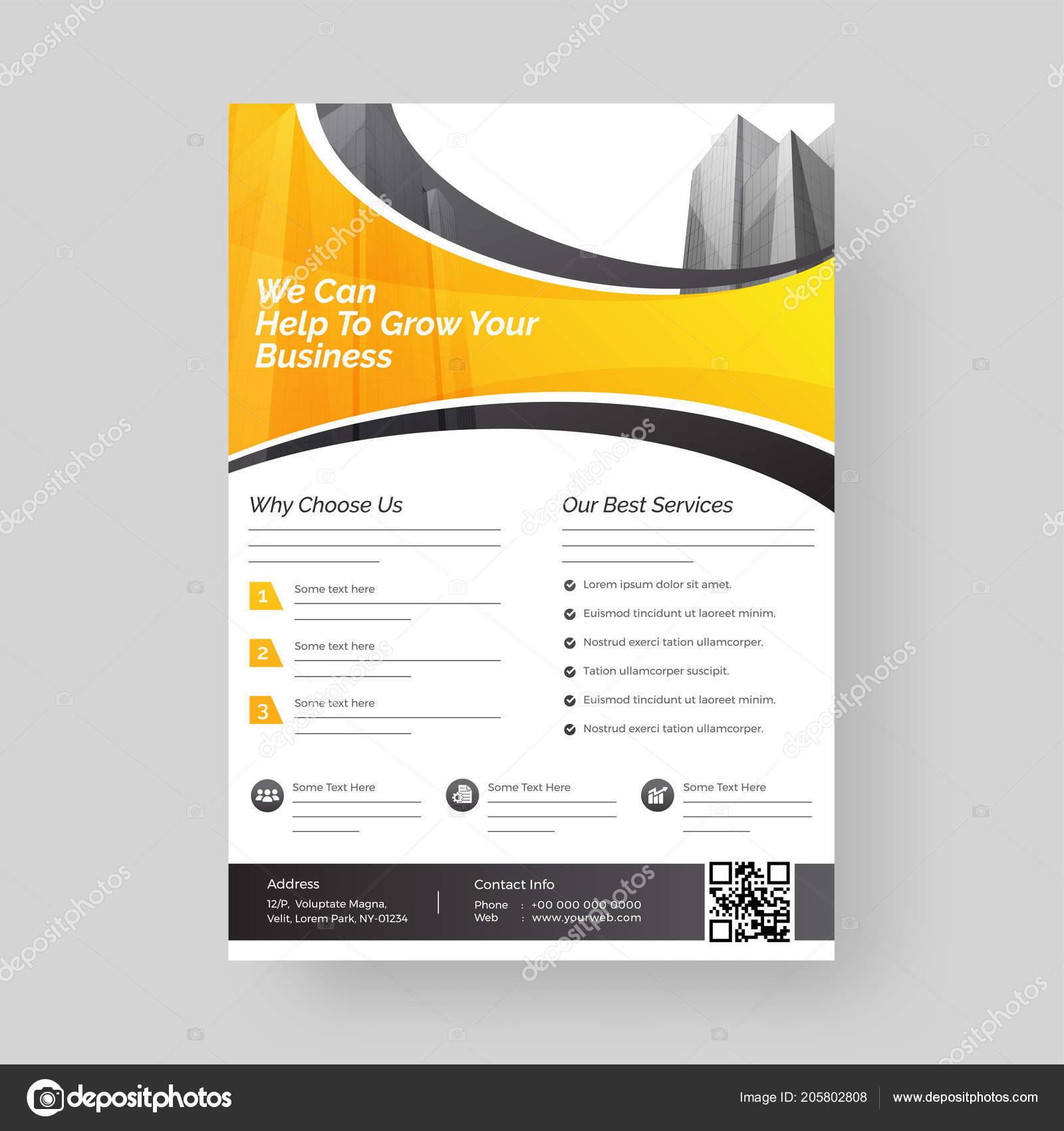 template flyer design business growth marketing concept vetores de
