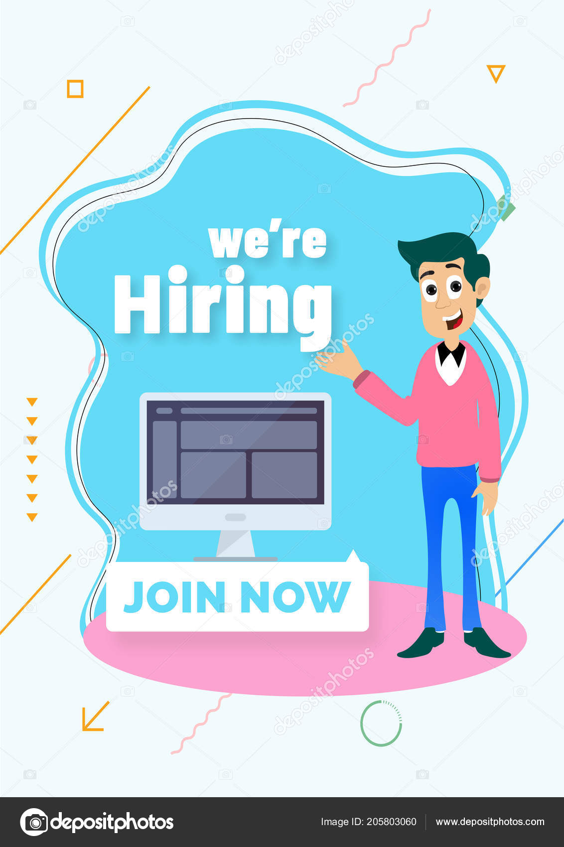 advertising poster banner design job recruitment concept hiring