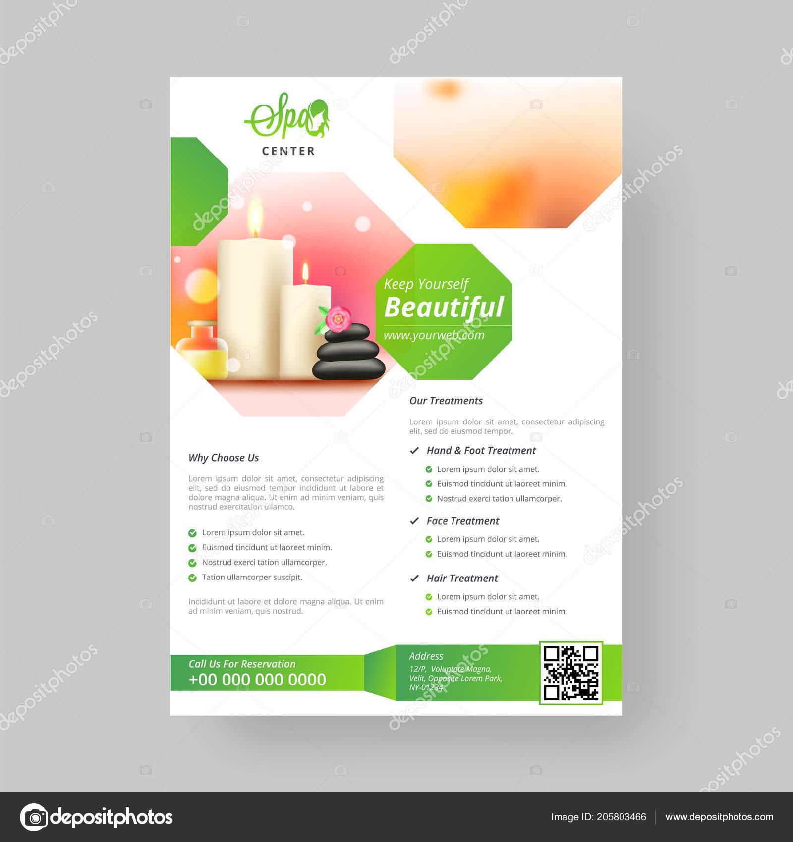 spa centro modelo folheto projeto para conceito marketing vetores