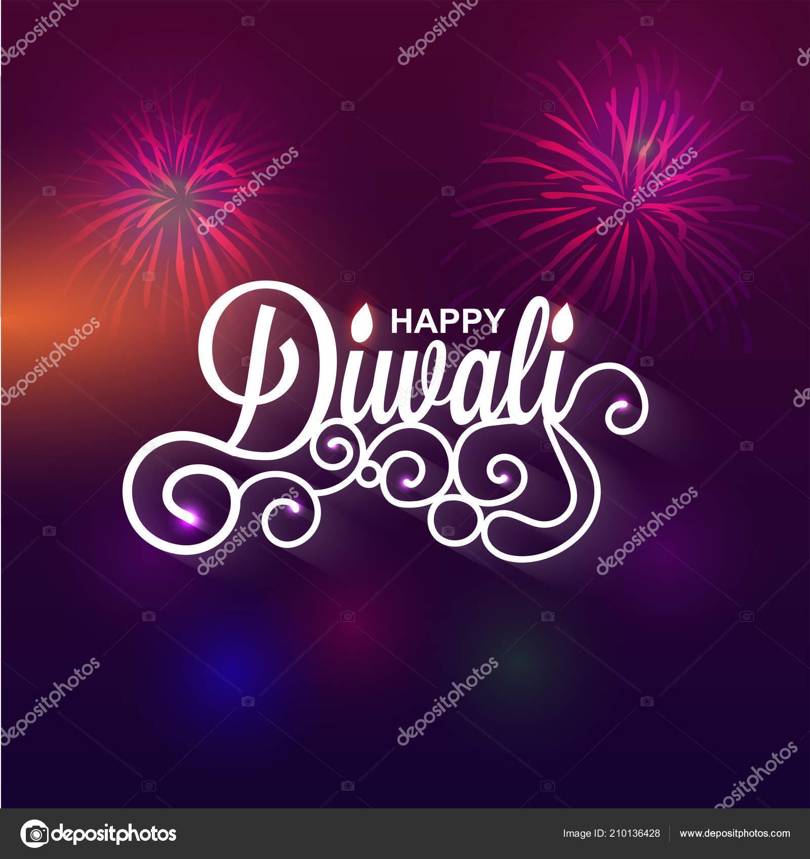 Happy diwali greeting card design creative text diwali blurred happy diwali greeting card design creative text diwali blurred firework stock vector m4hsunfo